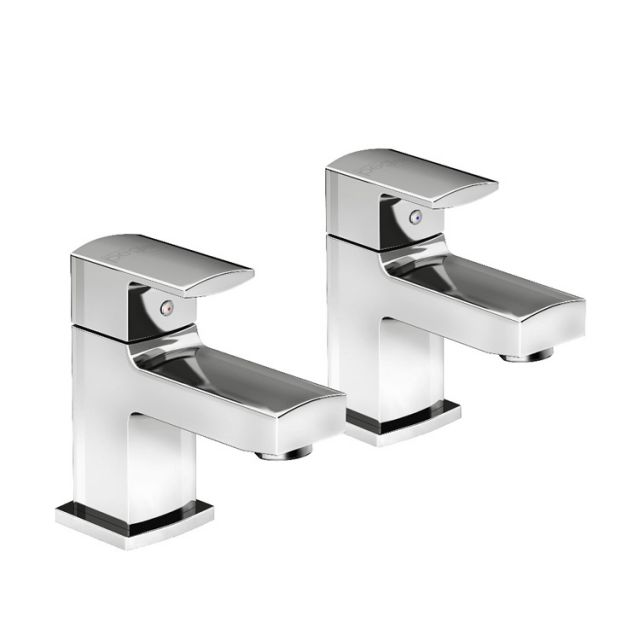 Pegler Manta Contemporary Basin Pillar Taps