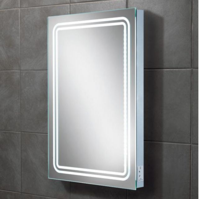 HIB Rotary Illuminated Bathroom Mirror
