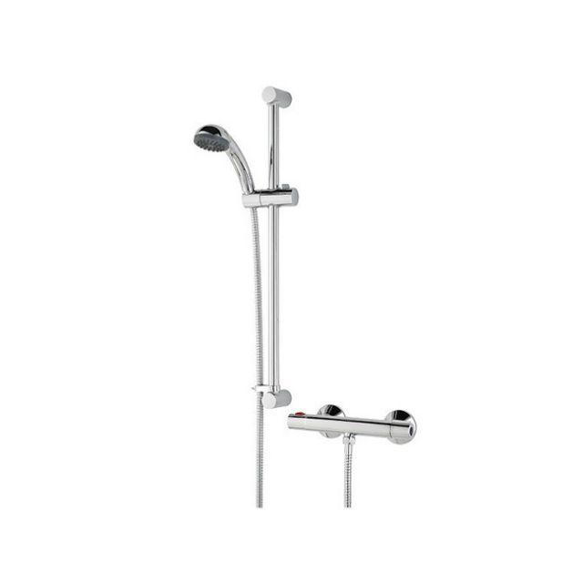 Bristan Zing Cool Touch Bar Mixer Shower Valve with Shower Kit - ZI SHXSMCT C