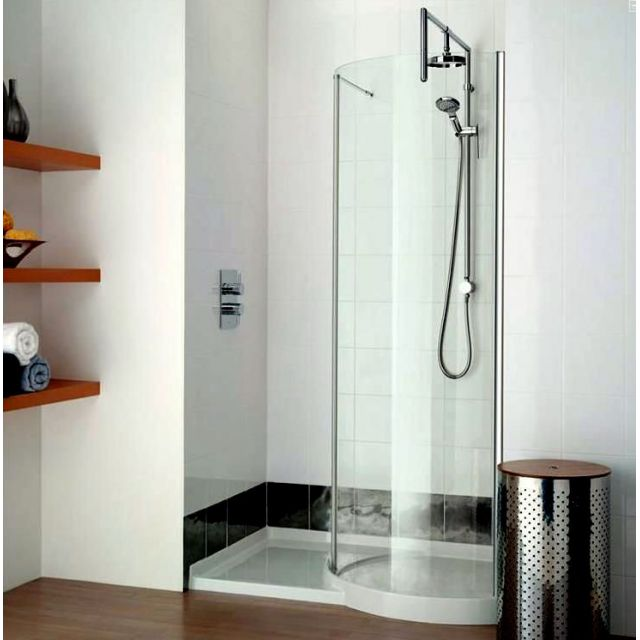 Matki original 1200 walk in curved recess shower enclosure for Walk in shower plans and specs