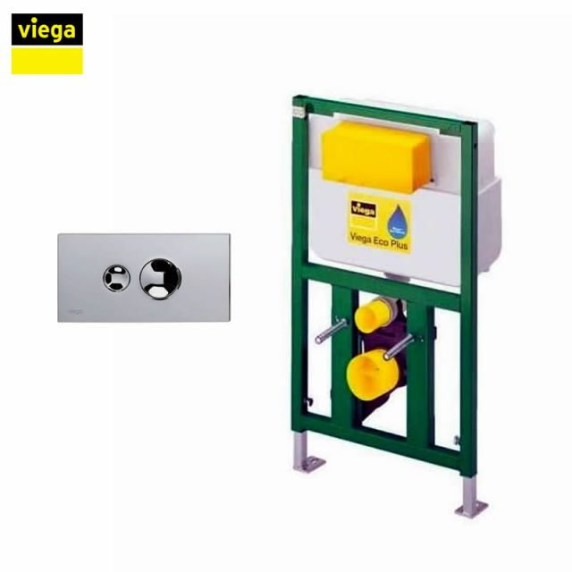 Viega S5 Eco Plus 83cm Framed Cistern and Visign for Style 10 Flush Plate Package