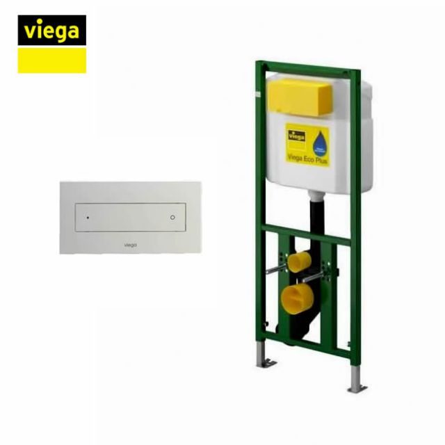 Viega S7 Eco Flush Front Flush 113cm Framed Cistern and Visign for Style 12 Flush Plate