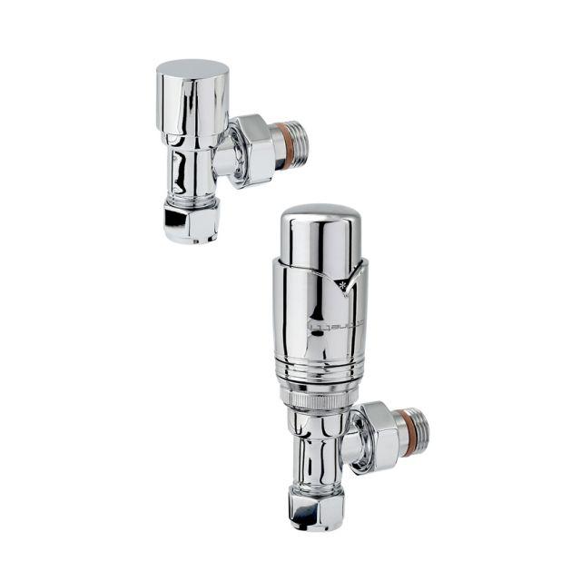 Zehnder Chromax Angled Thermostatic Radiator valves