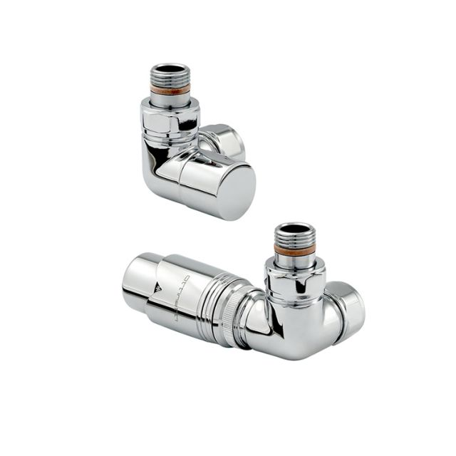 Zehnder Chromax Double Angled Thermostatic Radiator Valves