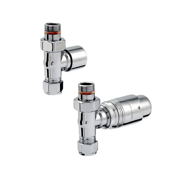 Zehnder Chromax Straight Thermostatic Radiator Valves