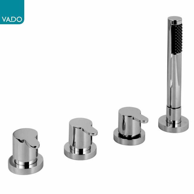 Vado Sense 4 Hole Bath Shower Set - SEN-135/NS-C/P