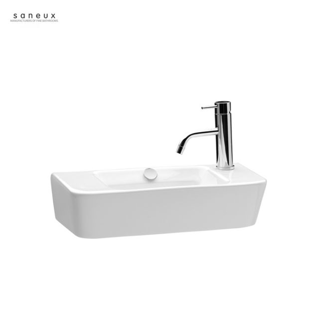 Saneux Project 500 x 250mm Wall Hung Washbasin