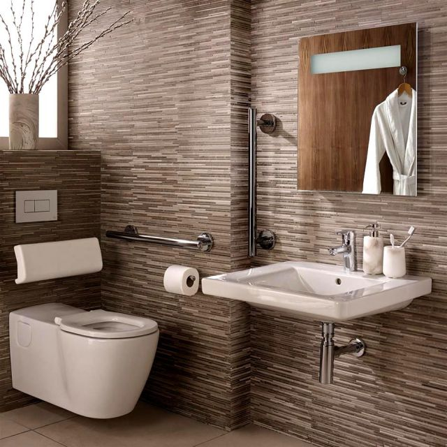 Ideal Standard Concept Freedom 60cm Basin Ensuite Package with Extended Wall Hung Pan