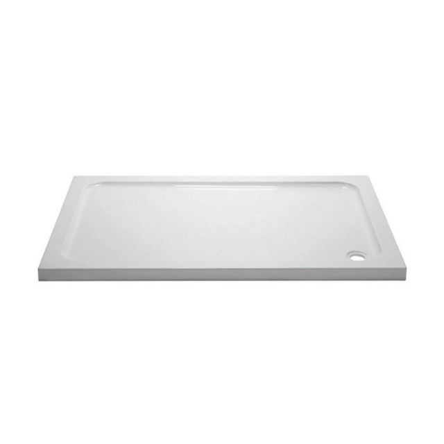 April 45mm Rectangular Stone Resin Shower Tray - 900 to 1400mm