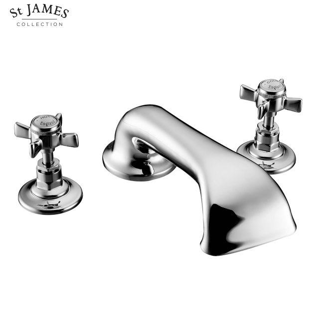 St James Traditional 3 Hole Bath Filler Tap