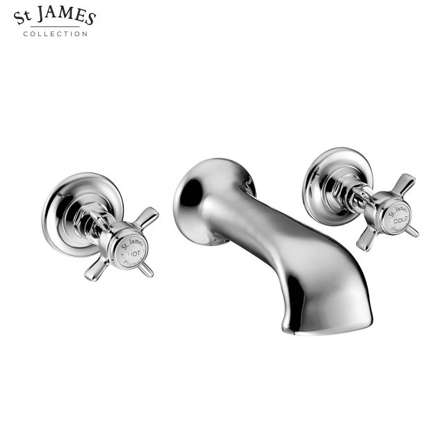 St James Wall Mounted 3 Hole Bath Filler Tap