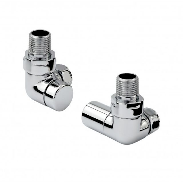 Zehnder Chromax Double Angled Manual  Radiator Valves