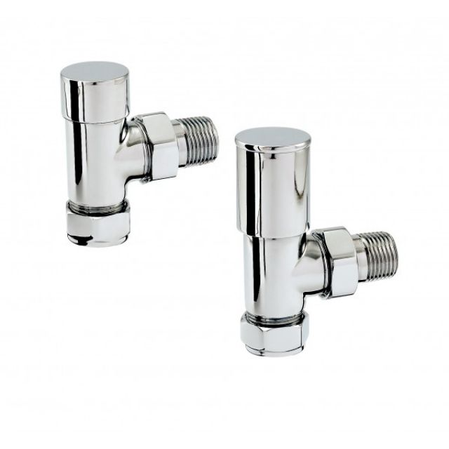 Zehnder Chromax Angled Manual Radiator Valves