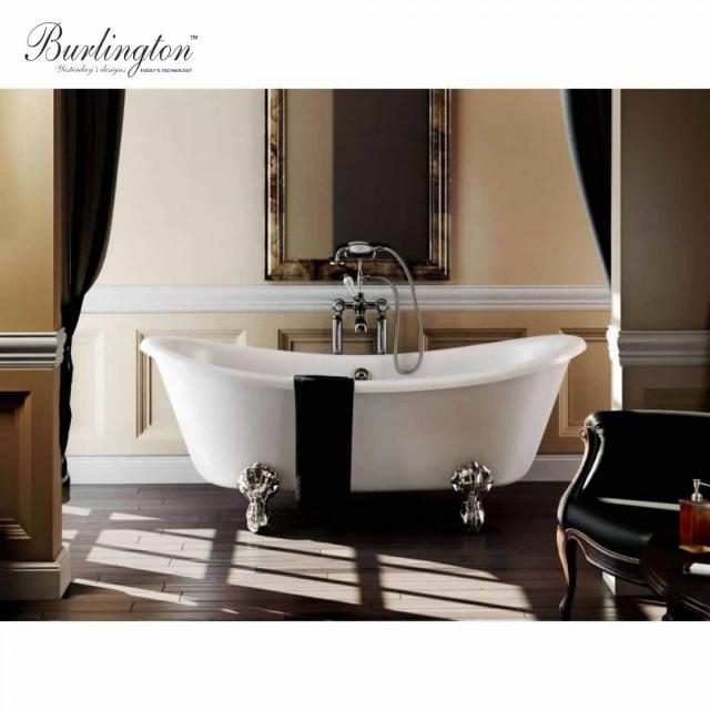 Burlington Bateau Freestanding Roll Top Bath Uk Bathrooms