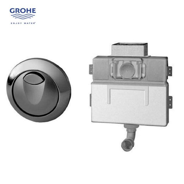 Grohe EAU2 Concealed Cistern and Button - 38691000