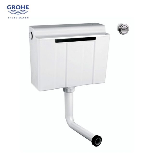 Grohe Adagio Concealed Dual Flush Cistern with Flush Button