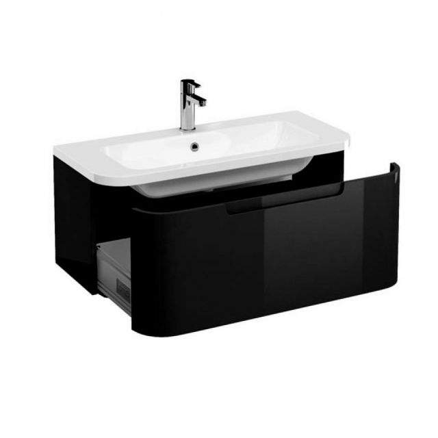 aqua cabinets compact wall hung vanity unit uk bathrooms