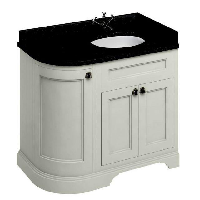Burlington 100 Curved Vanity Unit Uk Bathrooms