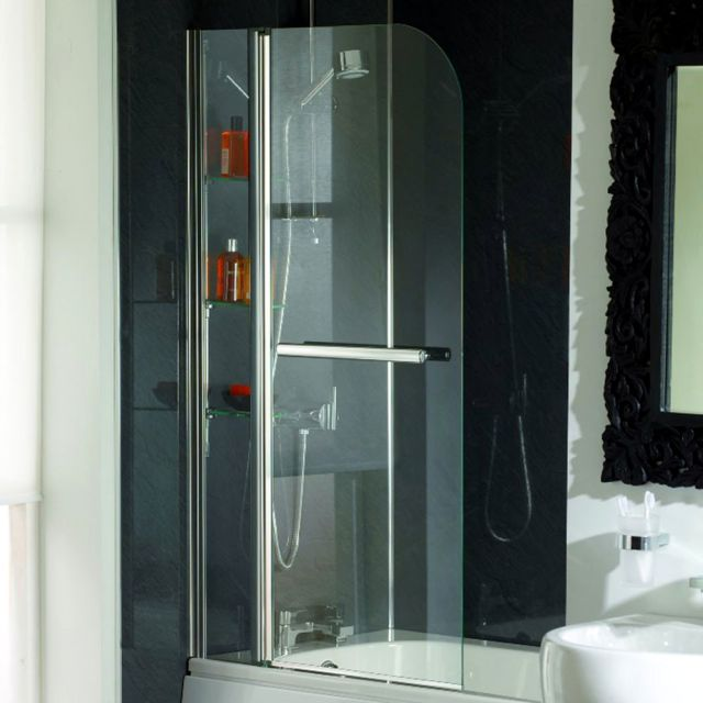 Origins Cascade Luxury 800 x 1400mm Bath Screen