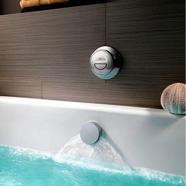 Aqualisa Rise Digital Bath With Overflow Filler Uk Bathrooms