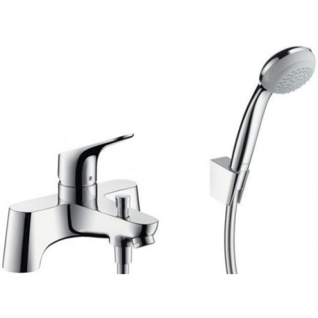 hansgrohe focus single lever bath shower mixer tap uk. Black Bedroom Furniture Sets. Home Design Ideas