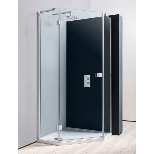 Simpsons Design Semi-Frameless Pentagon Shower Enclosure