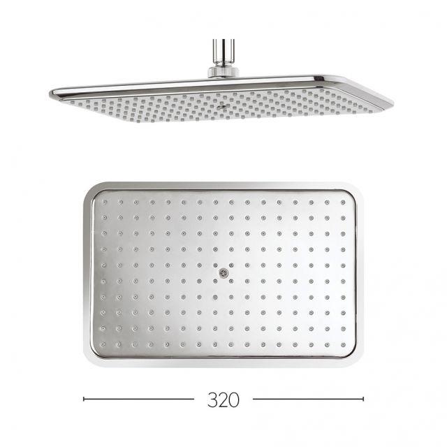 Crosswater essence fixed rectangular shower head