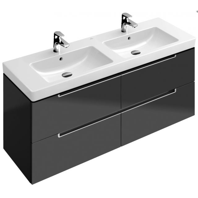 Villeroy And Boch Subway 2.0 Double Washbasin Vanity Unit