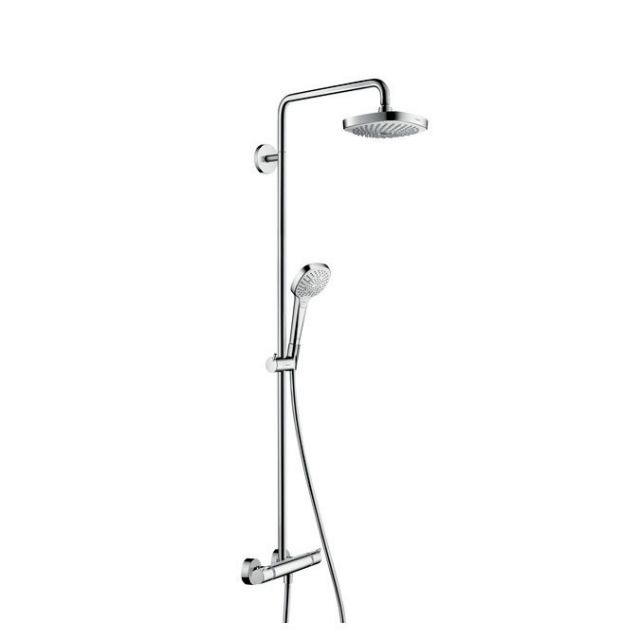 hansgrohe croma select e 180 2jet showerpipe set uk. Black Bedroom Furniture Sets. Home Design Ideas