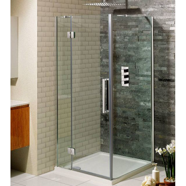 Simpsons Ten Hinged Shower Door with Inline Panel