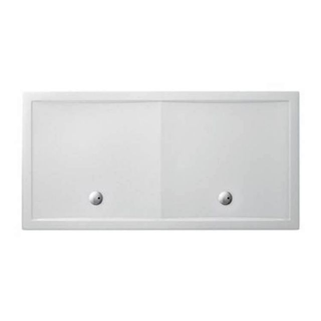Crosswater (Simpsons) Rectangular 35mm Acrylic Shower Tray with Double Wastes
