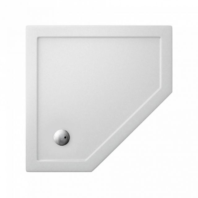 Simpsons Pentagon 35mm Acrylic Shower Tray