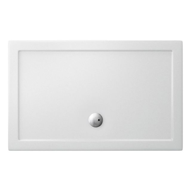 Crosswater (Simpsons) Rectangular 35mm Acrylic Shower Tray with Centre Waste