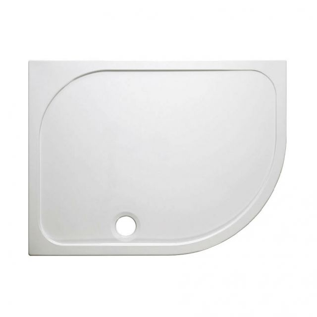 Simpsons Offset Quadrant 45mm Stone Resin Shower Tray