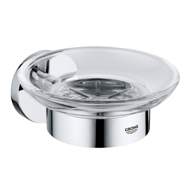 Grohe Essentials Holder with glass Soap Dish - 40444001