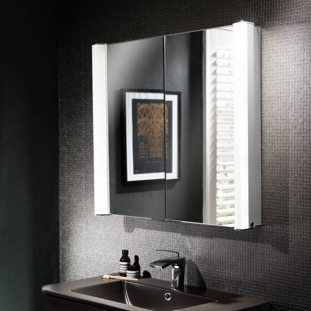 Crosswater (Bauhaus) Duo Illuminated Mirrored Cabinet
