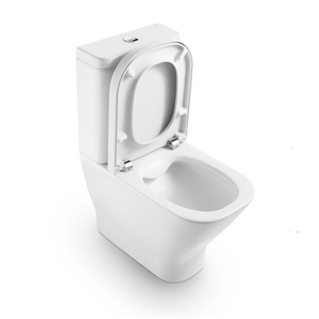 Roca The Gap Cleanrim Close Coupled Toilet