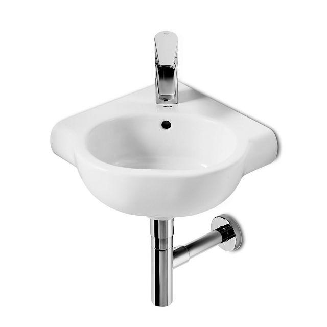 Roca Meridian-N Compact Corner Washbasin 350mm