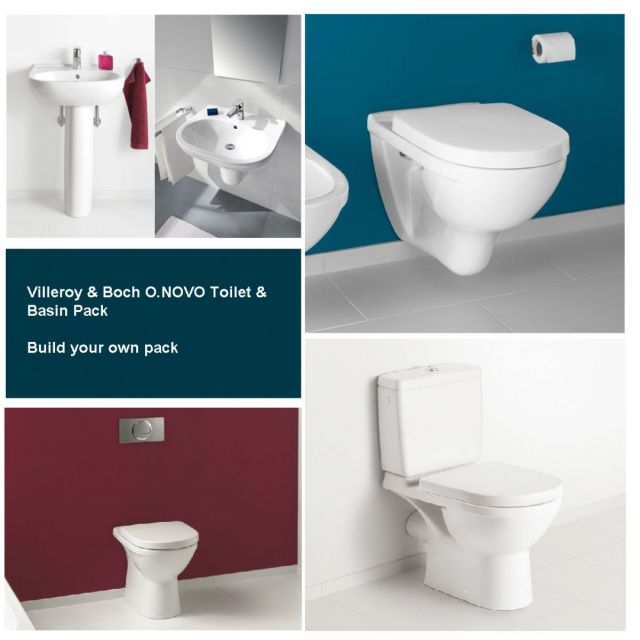 Villeroy and Boch O.Novo Basin & Toilet Pack