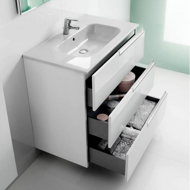 roca bathroom cabinets roca n 3 drawer vanity unit with basin uk bathrooms 25596