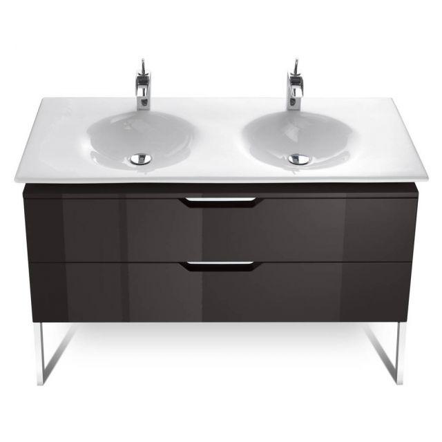 Roca kalahari 1200mm double basin furniture unit uk for Roca bathroom furniture