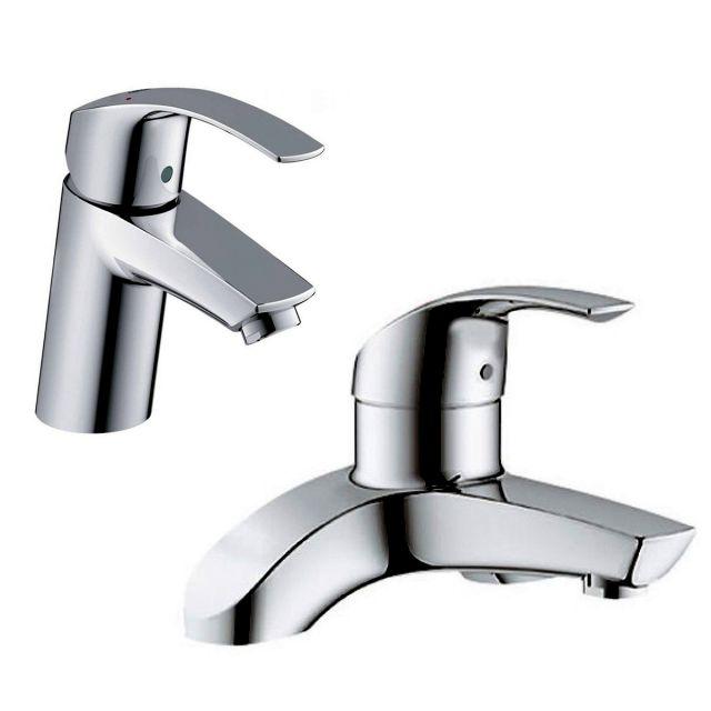 Grohe Eurosmart Basin Mixer Tap and Bath Filler - 33265002