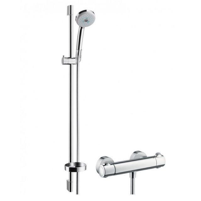 Hansgrohe Croma 100 Multi/Ecostat 1001 SL Shower Set 0.90m : UK Bathrooms