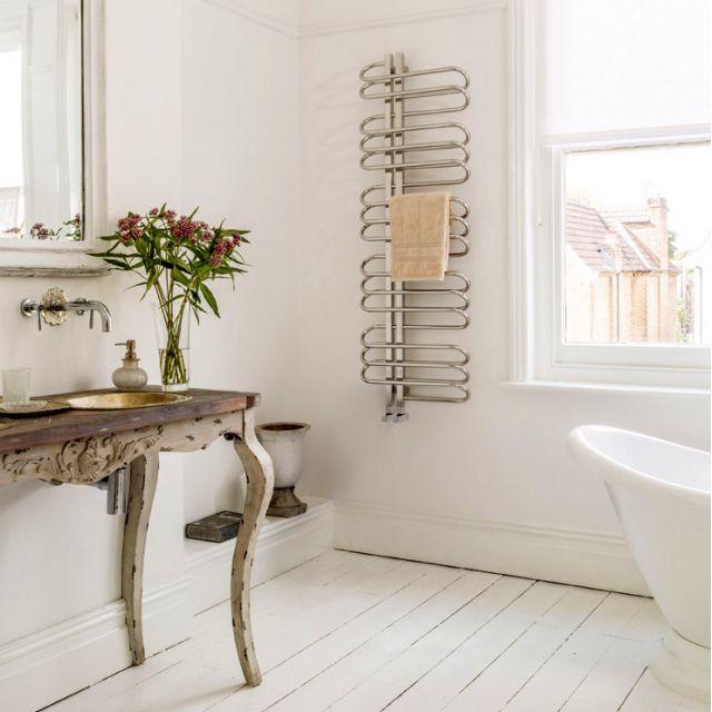 Bisque Orbit Towel Radiator