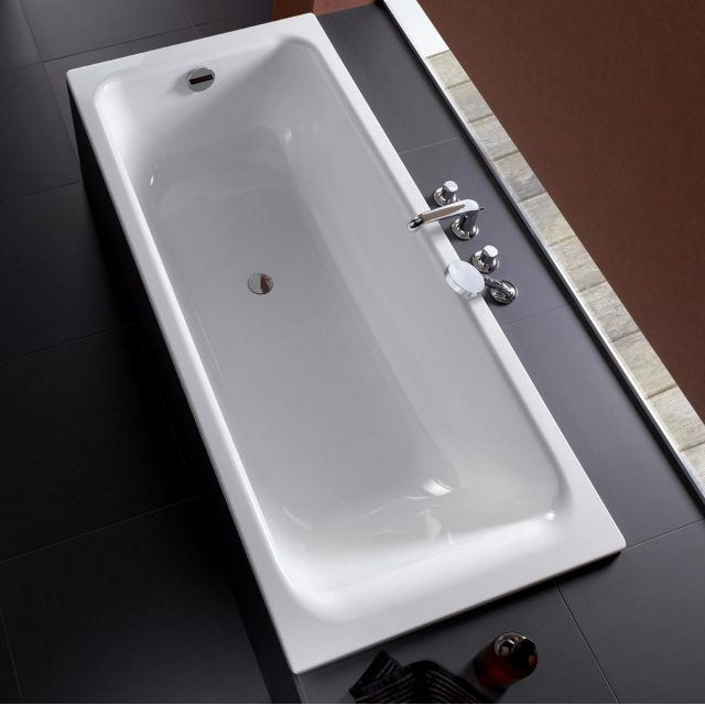 Bette Select Steel Bath With Overflow Foot End