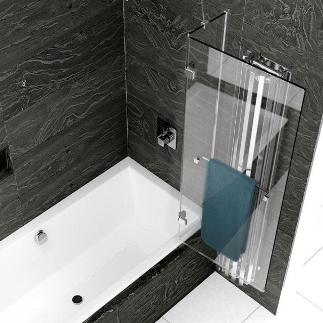 Kudos Inspire 2 Panel Out-Swing Bath Screen - 4BASC2PFOUTLHS