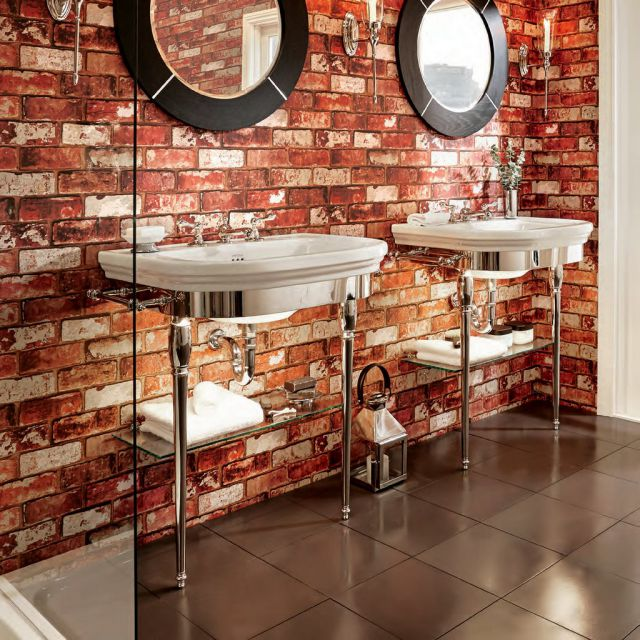 Imperial Carlyon Basin Stand with Chrome Legs and Washbasin