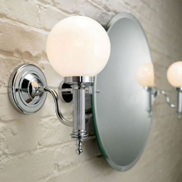 Imperial Cadiz Wall Light with Glass Shade