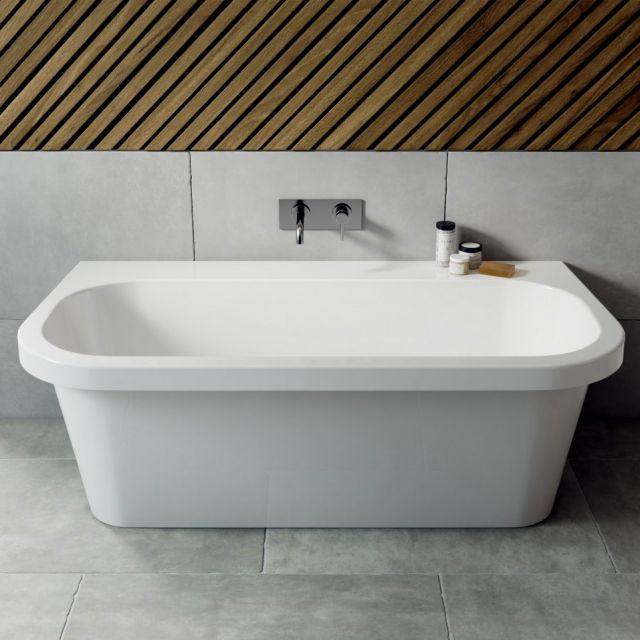 Ramsden & Mosley Jersey Back To Wall Double Ended Bath