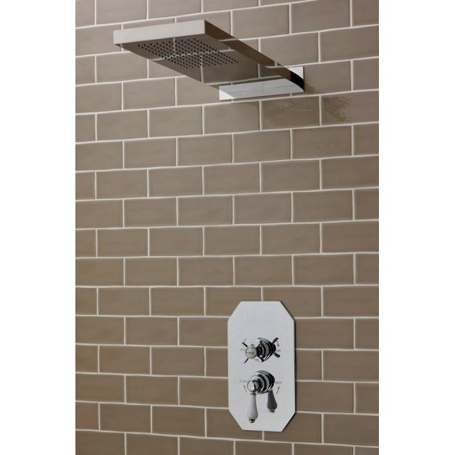 Imperial Quadrata Concealed Cambridge Single Outlet Shower Kit with Attica Drench Head